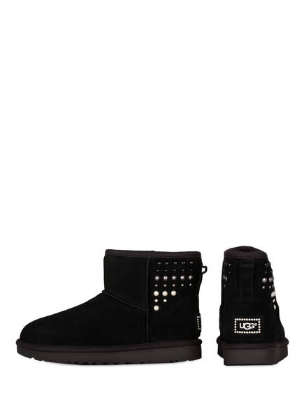 UGG Fell-Boots CLASSIC MINI PEARLS<br>          gef&uuml;ttert