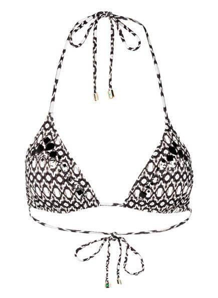 HEIDI KLUM SWIM Triangel-Bikini-Top KISS BY THE SEA, Farbe: SCHWARZ/ WEISS (Bild 1)