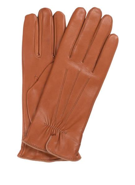 ROECKL Lederhandschuhe, Farbe: MITTELBRAUN (Bild 1)