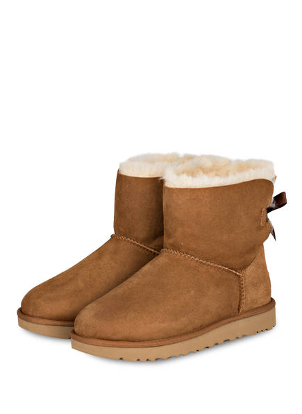 UGG Boots MINI BAILEY BOW II, Farbe: CHESTNUT (Bild 1)