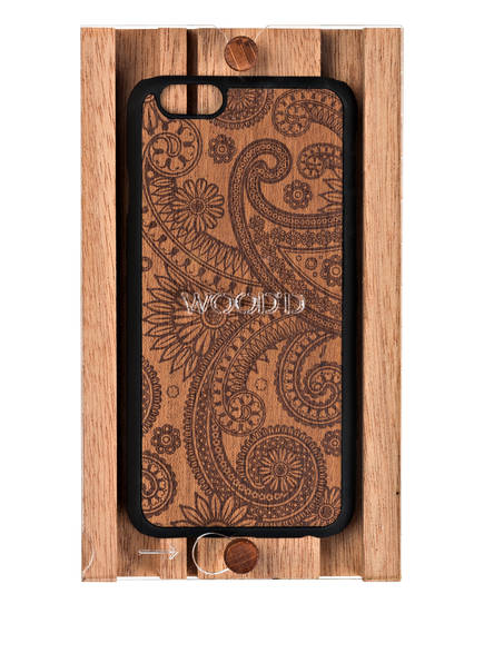 WOOD'D iPhone-H&uuml;lle DAMASKED MAHOGANY<br>         f&uuml;r iPhone 6/ 6s