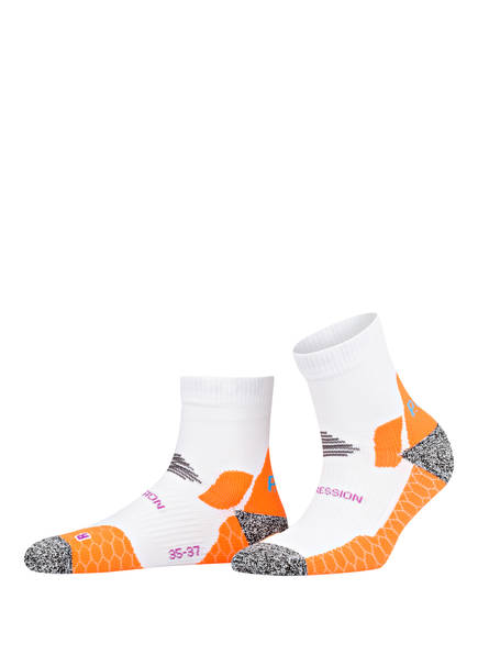 P.A.C. Running-Socken PRO MID COMPRESSION, Farbe: WEISS (Bild 1)