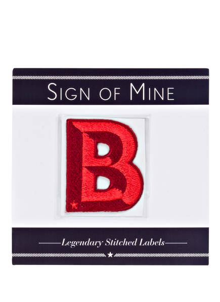 SIGN OF MINE Patch SINGLE LETTER<br>       Buchstaben A-Z