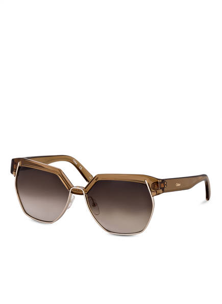 Chloé Sonnenbrille DAFNE, Farbe: 248 - LIGHT BROWN/ SMOKE GRADIENT (Bild 1)