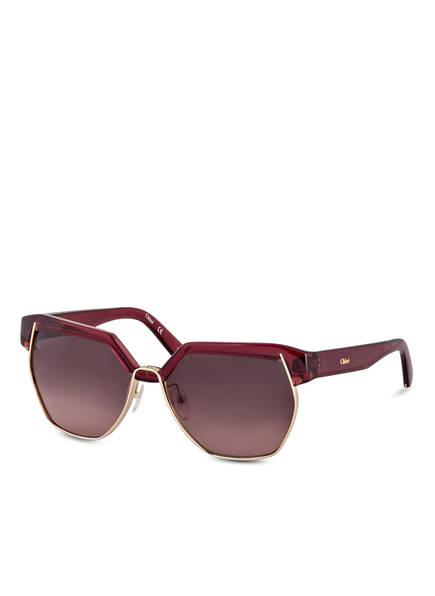 Chloé Sonnenbrille DAFNE, Farbe: 603 - BORDEAUX/ BORDEAUX VERLAUF (Bild 1)