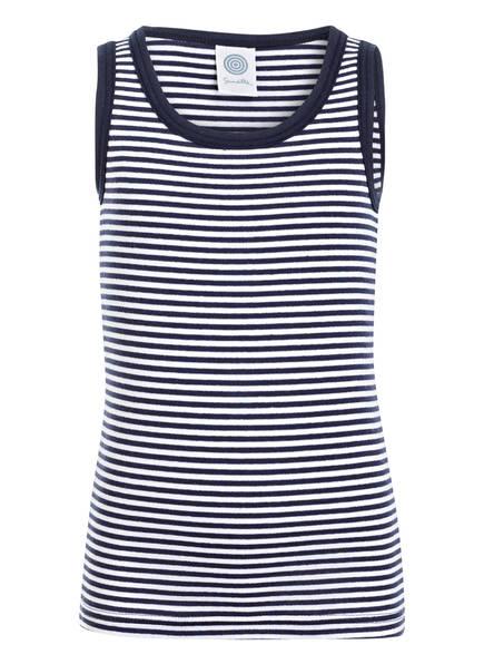 Sanetta Unterhemd, Farbe: MARINE/ WEISS GESTREIFT (Bild 1)