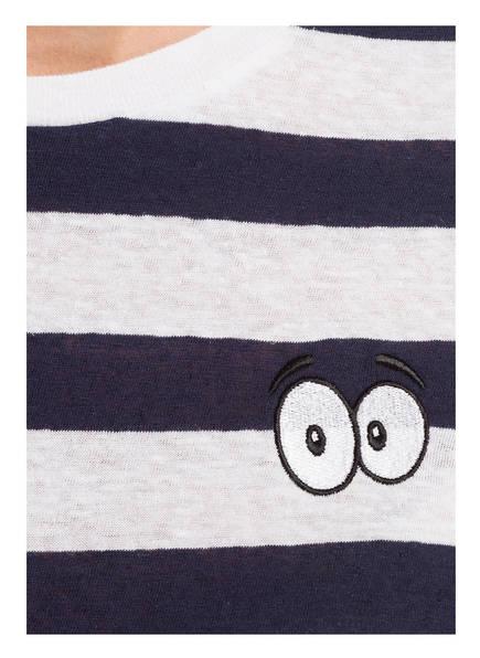 Gestreift Weiss Zoe Karssen shirt T Dunkelblau zxUwHq