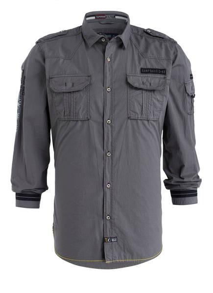 CAMP DAVID Hemd Regular Fit, Farbe: GRAU (Bild 1)