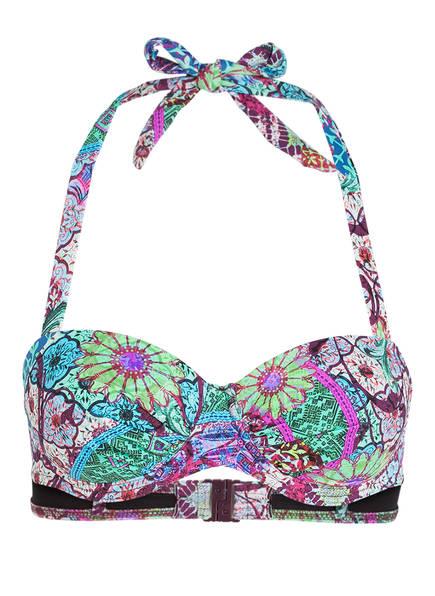 CYELL Neckholder-Bikini-Top BALI LOVE JULIETTE, Farbe: GRÜN/ PINK/ VIOLETT (Bild 1)