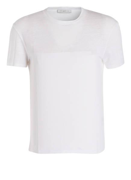sandro T-Shirt aus Leinen, Farbe: WEISS (Bild 1)