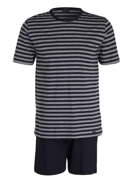 mey Shorty-Schlafanzug, Farbe: MARINE/ GRAU GESTREIFT (Bild 1)