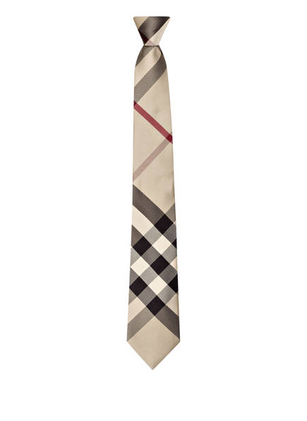 burberry krawatte manston. krawatte aus seide mit karo