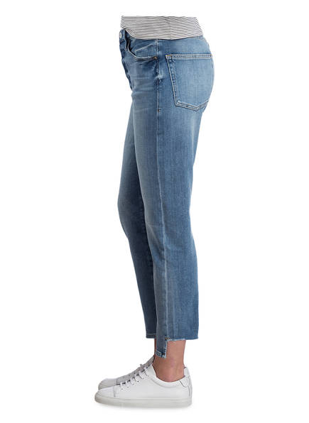 FRAME DENIM Girlfriend-Jeans <br>          LE ORIGINAL REVERSE RAW STAGGER