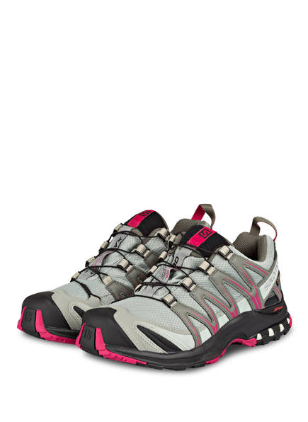 SALOMON Trailrunning-Schuhe XA PRO 3D GTX, Farbe: PASTELLGRÜN/ PINK (Bild 1)