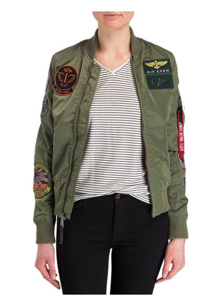 ALPHA INDUSTRIES Bomberjacke mit Patches