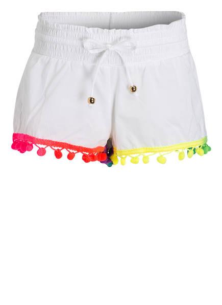 PILYQ Shorts mit Pompons, Farbe: WEISS (Bild 1)