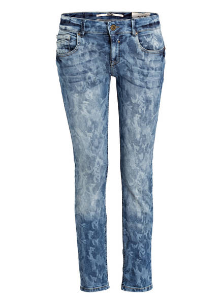 COCCARA Skinny-Jeans CURLY CAMO mit Paches