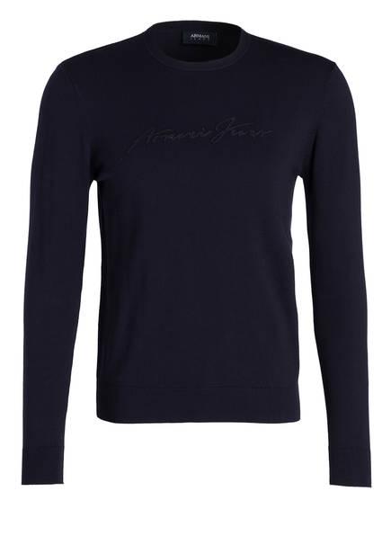 pullover mit monochromem logo stitching von armani jeans bei breuninger kaufen. Black Bedroom Furniture Sets. Home Design Ideas