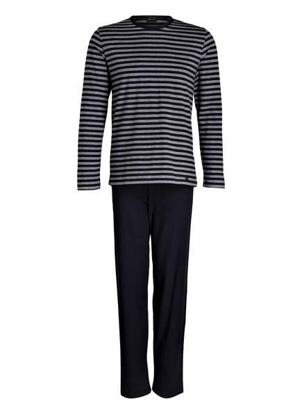 mey Schlafanzug, Farbe: MARINE/ GRAU GESTREIFT (Bild 1)