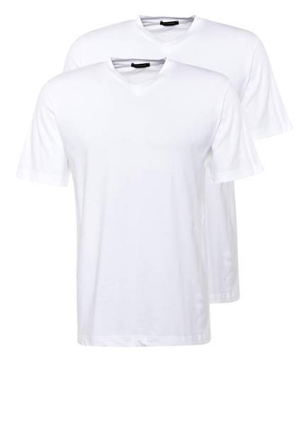 SCHIESSER 2er-Pack V-Shirts, Farbe: WEISS (Bild 1)