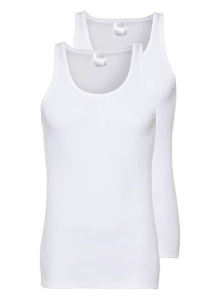 SCHIESSER 2er-Pack Unterhemden Feinripp, Farbe: WEISS (Bild 1)