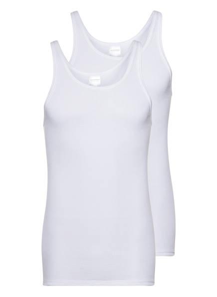 SCHIESSER 2er-Pack Unterhemden Doppelripp, Farbe: WEISS (Bild 1)