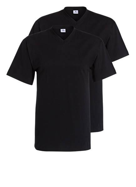 RAGMAN 2er-Pack V-Shirts , Farbe: SCHWARZ (Bild 1)