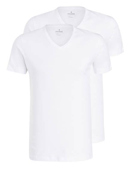 Weiss pack shirts V Ragman 2er XPqxUU