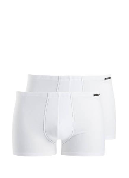 SCHIESSER 2er-Pack Boxershorts ESSENTIALS, Farbe: WEISS (Bild 1)