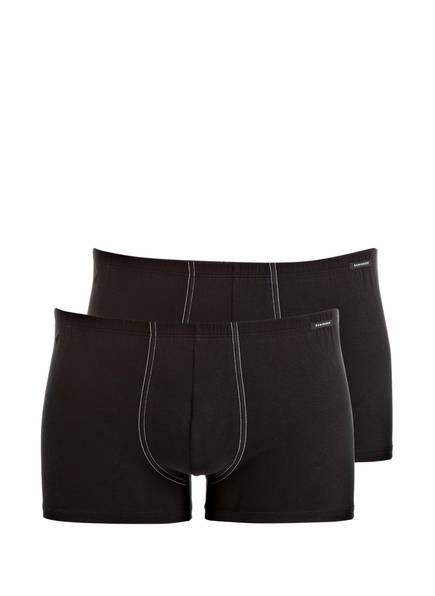 SCHIESSER 2er-Pack Boxershorts ESSENTIALS, Farbe: SCHWARZ (Bild 1)