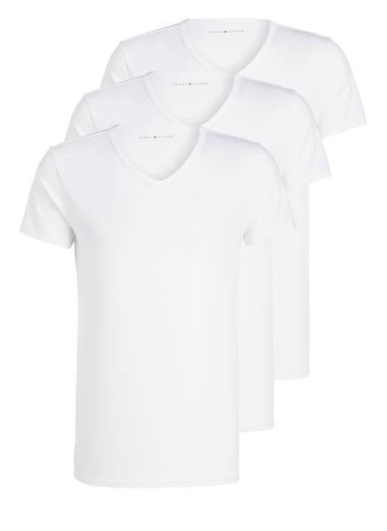 TOMMY HILFIGER 3er-Pack V-Shirts, Farbe: WEISS (Bild 1)