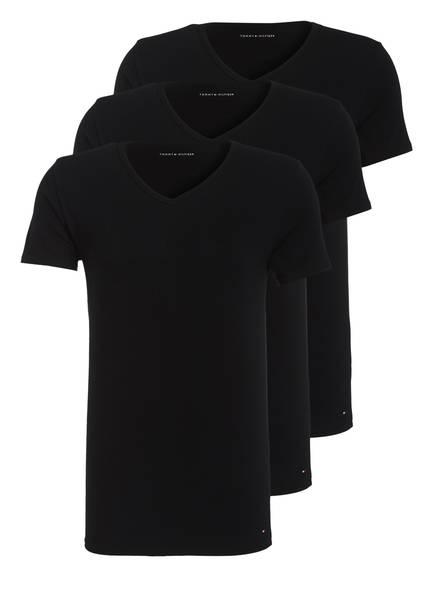 TOMMY HILFIGER 3er-Pack V-Shirts, Farbe: SCHWARZ  (Bild 1)