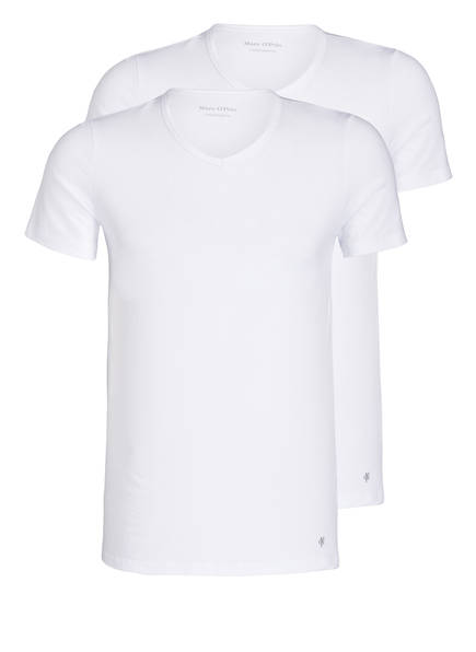 Marc O'Polo 2er-Pack V-Shirts, Farbe: WEISS (Bild 1)