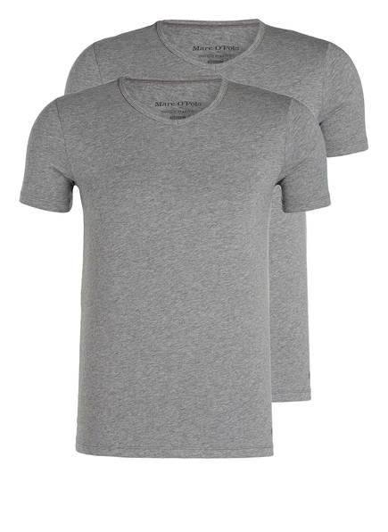 Marc O'Polo 2er-Pack V-Shirts, Farbe: GRAU MELIERT (Bild 1)