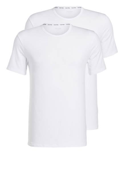 Calvin Klein 2er-Pack T-Shirts, Farbe: WEISS (Bild 1)