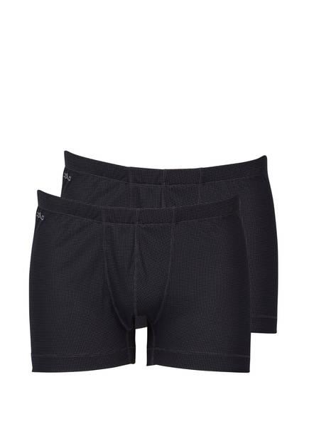Odlo 2er-Pack Funktionswäsche-Boxershorts Cubic grau