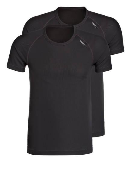 Odlo 2er-Pack Funktionswäsche-Shirt Cubic grau