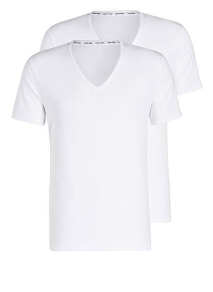 Calvin Klein 2er-Pack V-Shirts, Farbe: WEISS (Bild 1)