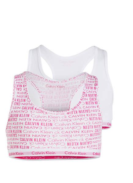 Calvin Klein 2er-Pack Bustiers, Farbe: WEISS/ PINK (Bild 1)