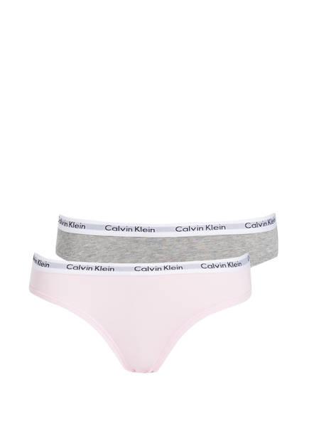 Calvin Klein 2er-Pack Slips, Farbe: ROSA/ GRAU (Bild 1)