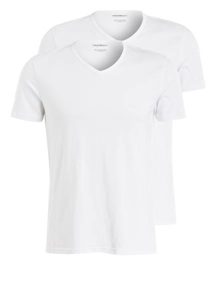 EMPORIO ARMANI 2er-Pack V-Shirts, Farbe: WEISS (Bild 1)