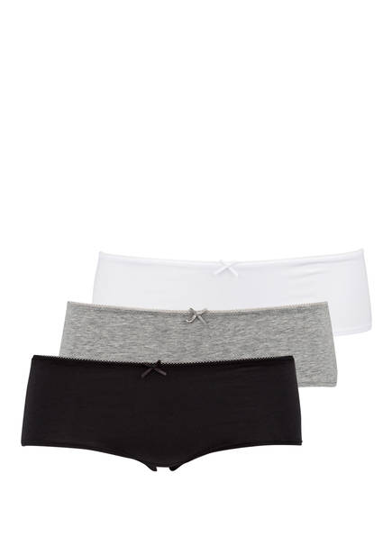 Marc O'Polo 3er-Pack Panties, Farbe: SCHWARZ/ WEISS/ GRAU (Bild 1)