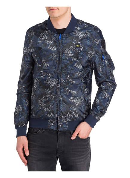 Blauer Wendeblouson im Camouflage-Stil