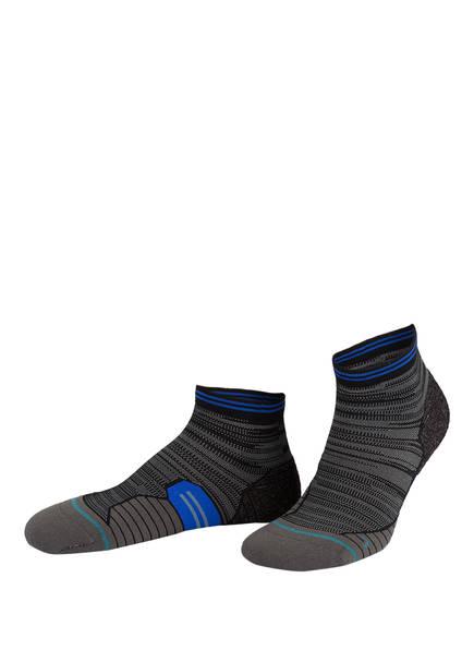 STANCE Running-Socken UNCOMMON SOLIDS, Farbe: GRAU/ SCHWARZ (Bild 1)