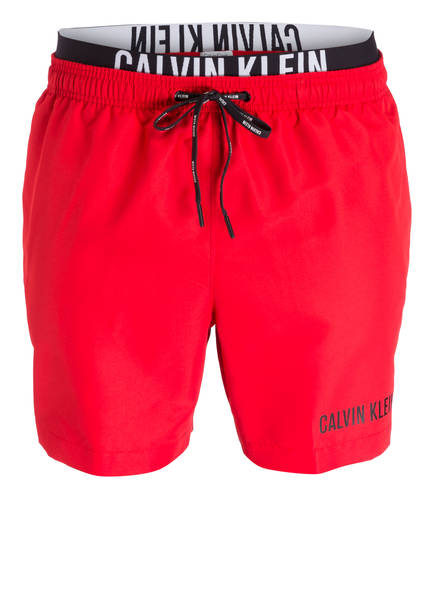 calvin klein badehose calvin klein badeshorts rot flanell. Black Bedroom Furniture Sets. Home Design Ideas