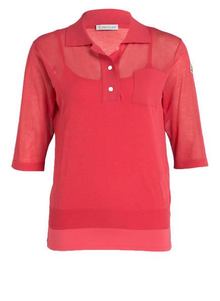 MONCLER Poloshirt mit Top, Farbe: ROT (Bild 1)