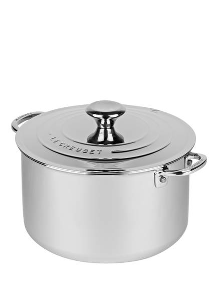 LE CREUSET Suppentopf 3-PLY PLUS , Farbe: SILBER (Bild 1)
