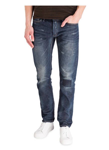 DENHAM Destroyed-Jeans RAZOOR Slim-Fit