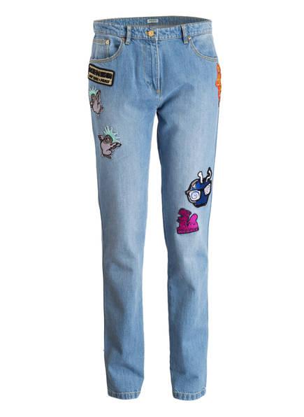 mom jeans mit patches von kenzo bei breuninger kaufen. Black Bedroom Furniture Sets. Home Design Ideas