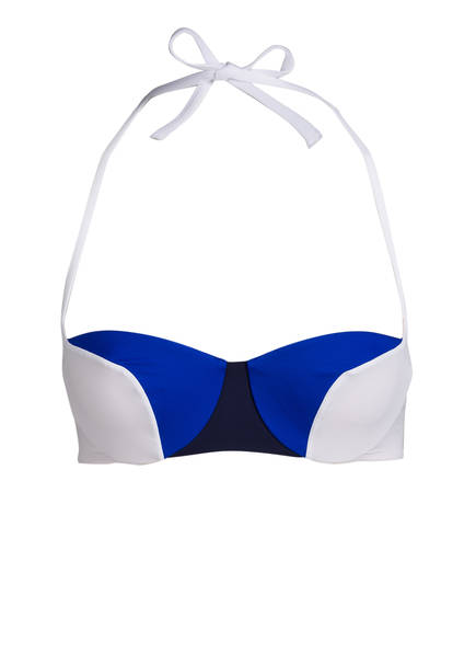 LA PERLA Bandeau-Bikini-Top, Farbe: WEISS/ BLAU (Bild 1)